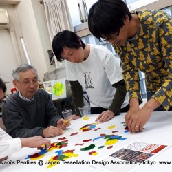 Experience Workshop introduced Haresh Lalvani's Pentiles at Japan Tessellation Design Association, Tokyo
