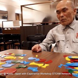 Haresh Lalvani's Pentiles were studied and discussed by renowned Japanese mathematicians from Experience Workshop's STEAM Network in Kyoto, Japan