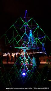 Sierpinski Pyramid building workshop at the