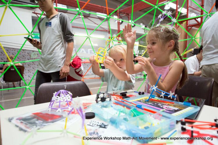 Experience Workshop @ Ars Electronica Festival 2017: Kelle, Orosz, GeoGebra, 4Dframe, Re-Bots & Robots