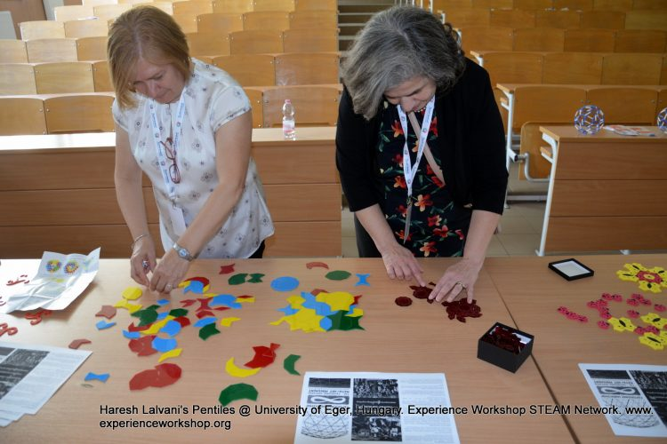 Haresh Lalvani's (New York) Pentiles puzzle in Eger, Hungary with Experience Workshop's STEAM Network