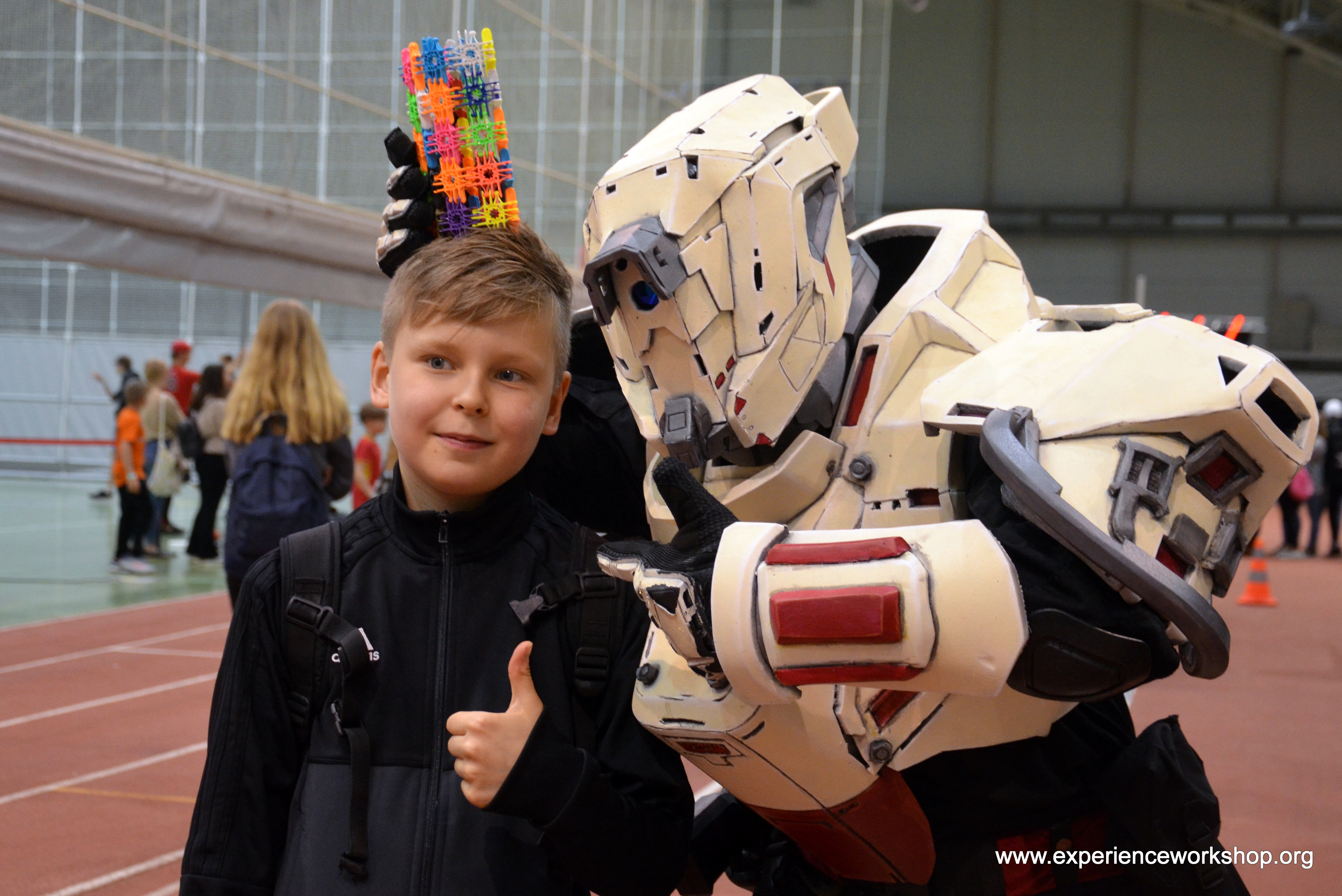 Outerspace warriors celebrating schools in Finland