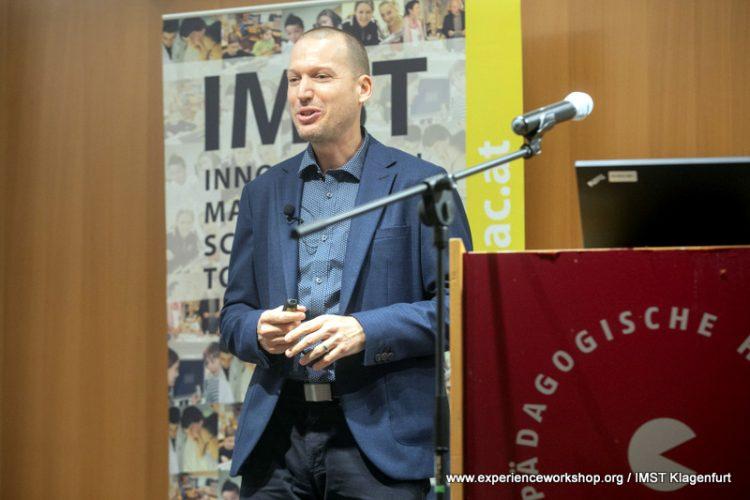 Fenyvesi Kristóf nyitóelőadása az IMST oktatáskutatási szimpóziumon (Klagenfurt)