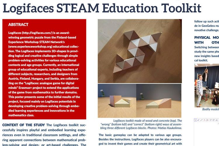 A matematikai gondolkodás játékos fejlesztése a Logifaces készlettel – bemutatkozás Finnország prominens STEM oktatási konferenciáján