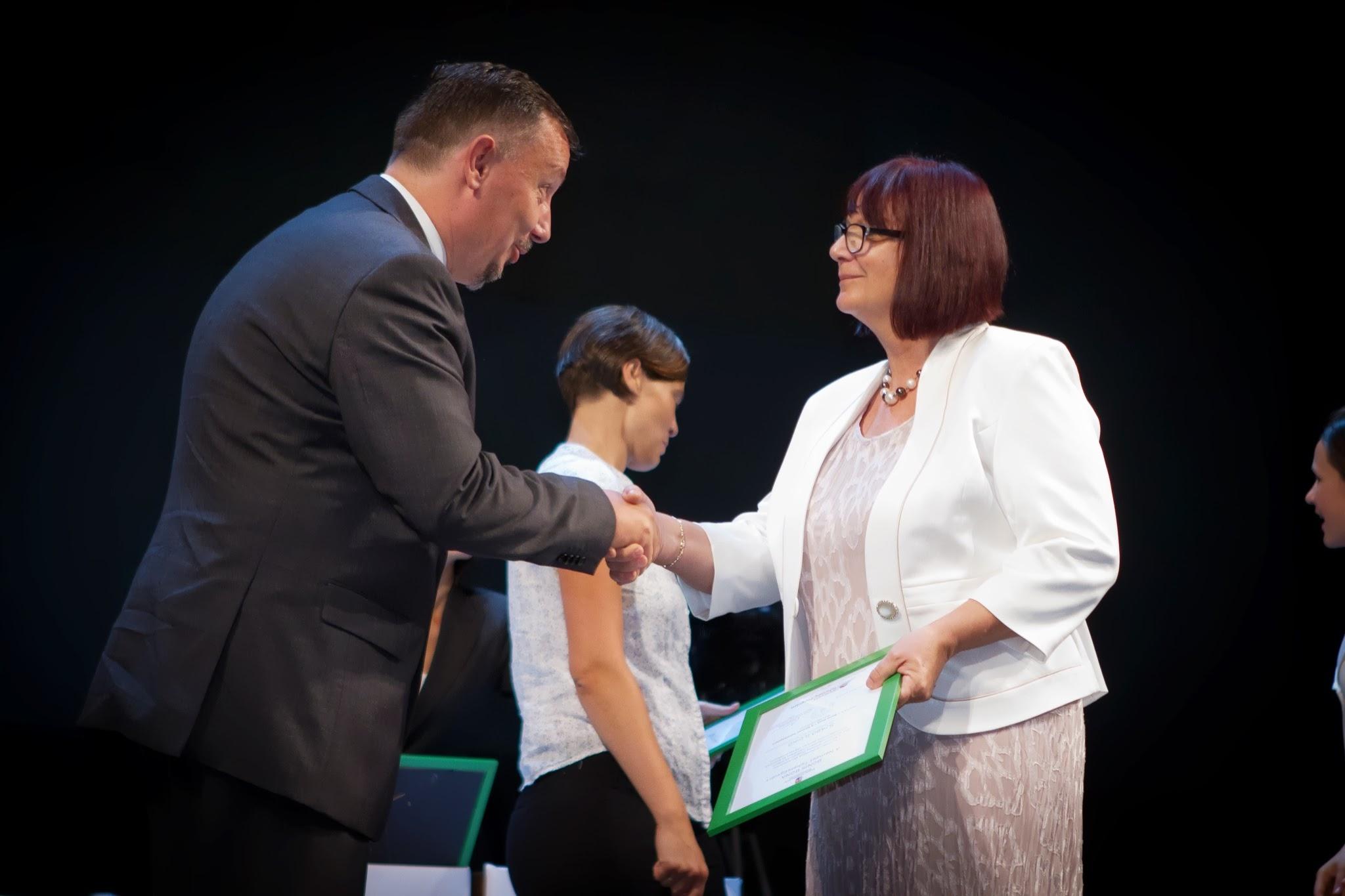Szabó Ildikó, a Bonis bona díj átadóján (Mayer András fotója)