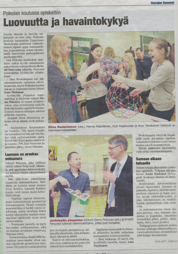 Experience Workshop's 4Dframe program gets nice press coverage in Finland!