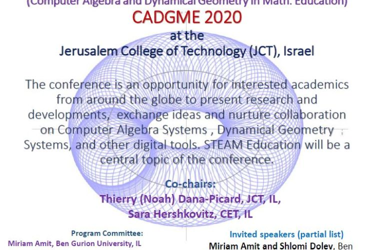 POSTPONED! CADGME – Digital Tools in Mathematics Education conference in Jerusalem
