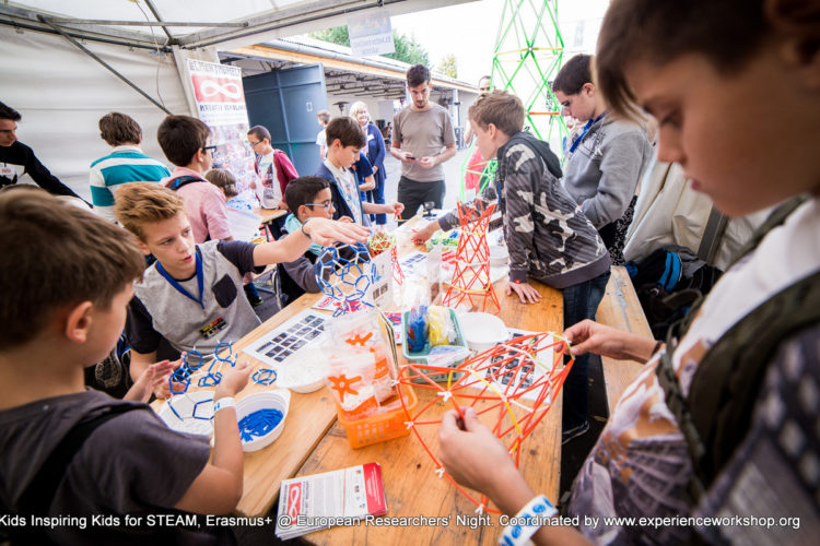 """""""Kids Inspiring Kids for STEAM"""" Erasmus+ Multiplier Event with the Experience Workshop at the European Researchers' Night Budapest"""